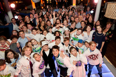 painted hoodies at Bar Mitzvah party