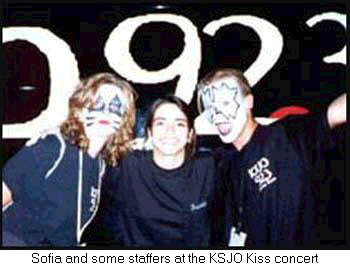 Paul Stanley and Ace Frehely style KISS makeup for KSJO employees